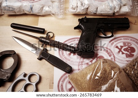 Produced drugs - stock photo