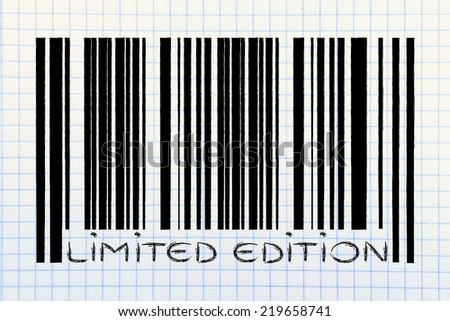 product  bar code design with limited edition offer