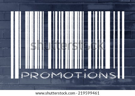 product  bar code design with sale or marketing promotional offer