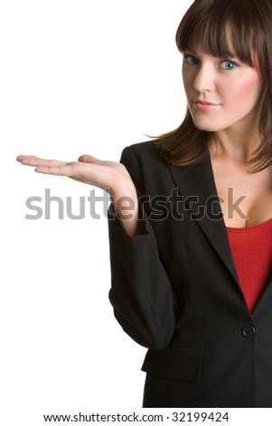 Product Display Businesswoman - stock photo