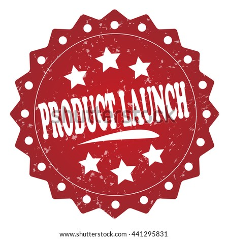 product launch grunge stamp - stock photo