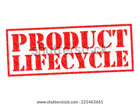 PRODUCT LIFECYCLE red Rubber Stamp over a white background. - stock photo