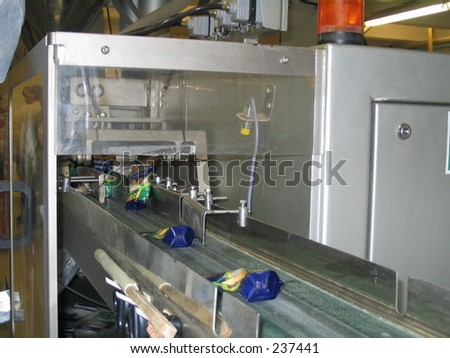 Product line machine - stock photo