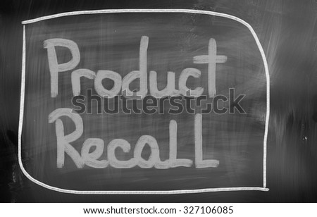 Product Recall Concept