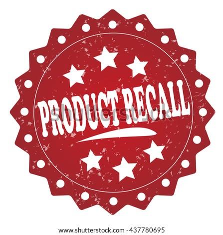 product recall grunge stamp - stock photo