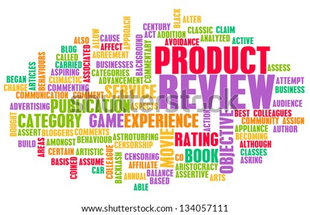 Product Review Word Cloud as a Concept - stock photo