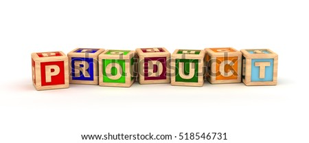 Product Text Cube 3D rendering