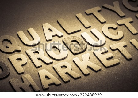 Product topic as factor of marketing in wood letters
