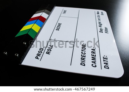 Production clapperboard