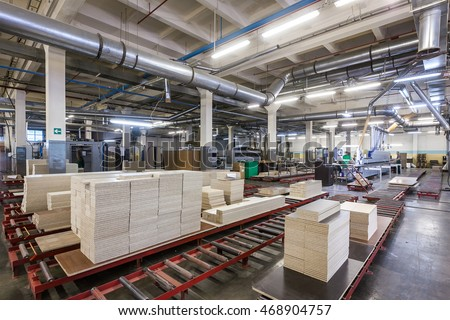 Production Department Furniture Factory Stock Photo (Royalty Free ...