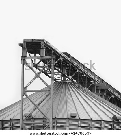 Production. Industrial buildings - stock photo
