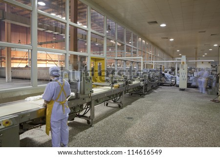 Production line, - stock photo