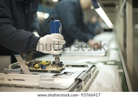 Production line - stock photo