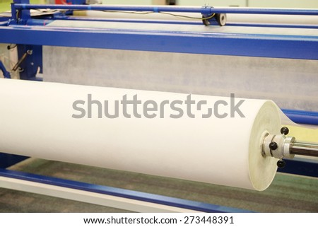Production line in a textile industry  - stock photo