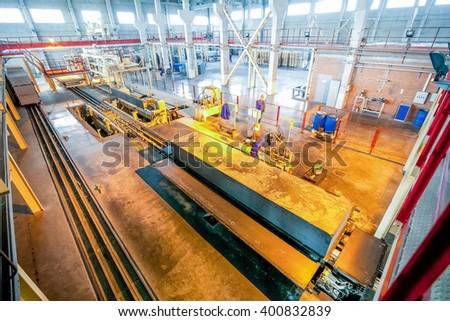 Production of aerated concrete blocks at factory transport stage