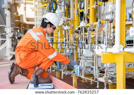 Production Operator Adjust Flow Rate Corrosion Stock Photo (Royalty ...