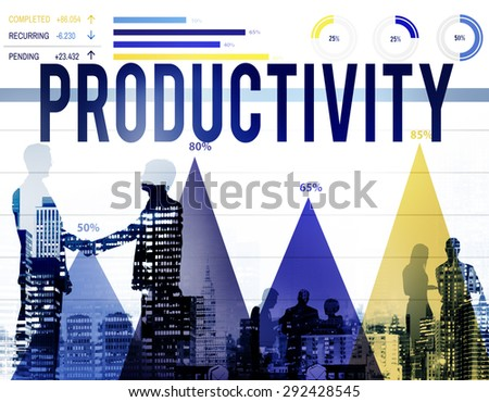 Productivity Efficiency Results Capacity Yield Concept - stock photo