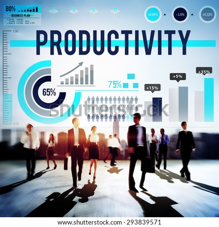 Productivity Performance Efficiency Capacity Results Concept - stock photo