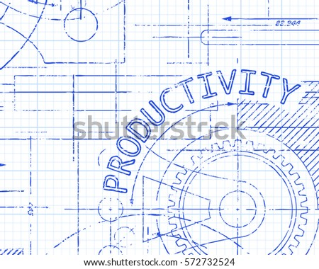 Productivity Word On Graph Paper Technical Drawing Background Illustration  Graph Paper Word