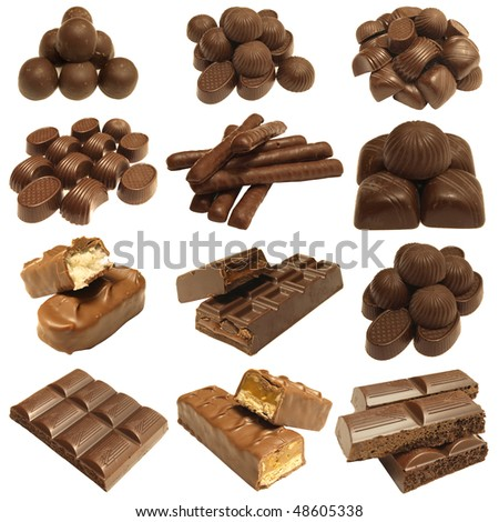 Products from chocolate for all tastes - stock photo