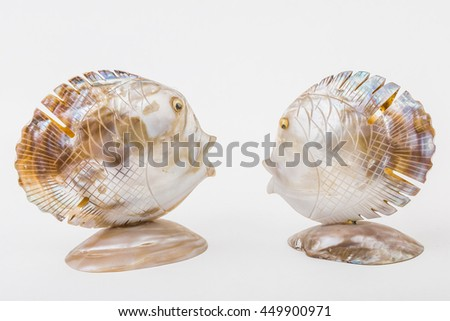 Products made from the shell of a fish. - stock photo