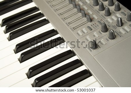 Profeesional keyboard for concert performances and recording - stock photo
