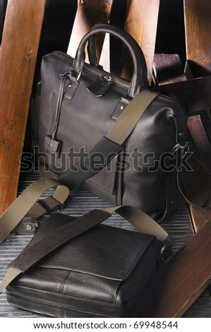 profesional bags in alternative background - stock photo