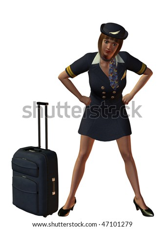 Professional Air Hostess/Flight Attendant with attitude