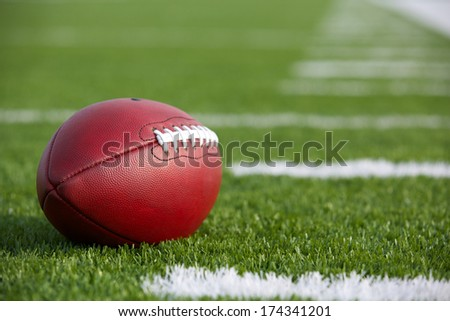 Professional American Football on the Field - stock photo