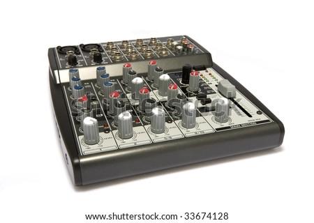 Professional Audio / Disk Jockey / Karaoke Mixer - stock photo