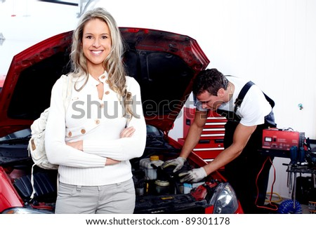 Auto repair shop stock images royalty free images for Garage service professionals