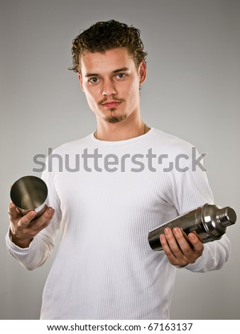 professional barman - stock photo