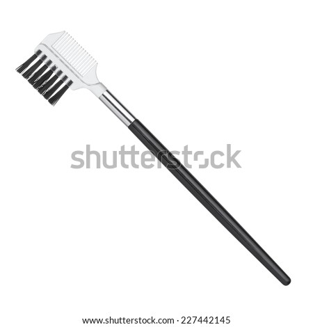 Professional brush for eyebrows isolated on white background - stock photo