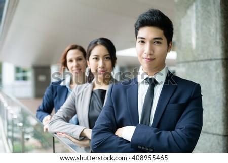 Professional business team - stock photo
