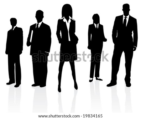 Professional business team (vector version in my portfolio already) - stock photo