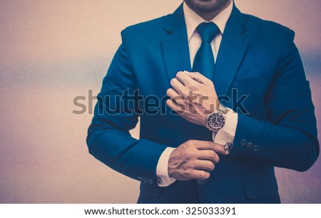 Professional businessman in a vintage background - stock photo