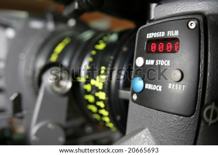 Professional camera, close view - stock photo