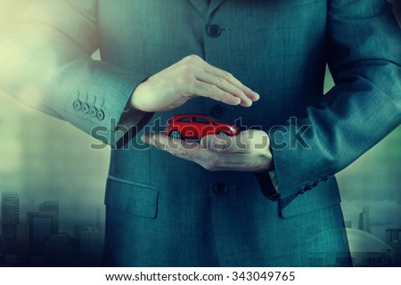 Professional car insurance solution for the best protection - stock photo