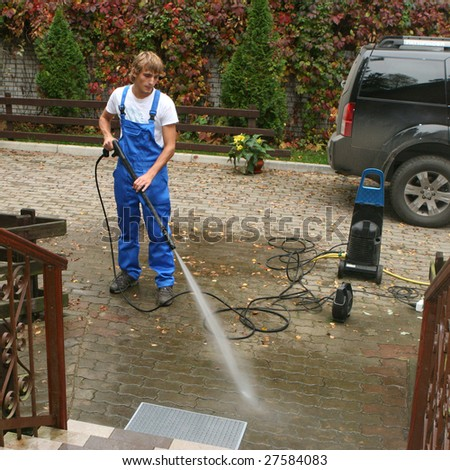 professional cleaning - stock photo