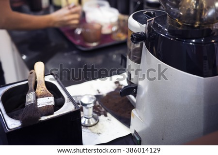 Professional coffee machine shop