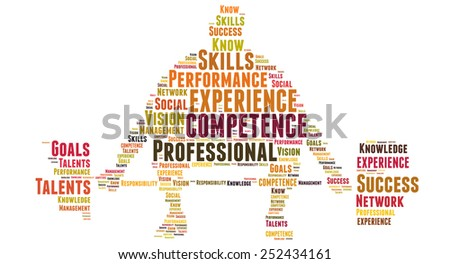 Professional competence and experience - stock photo