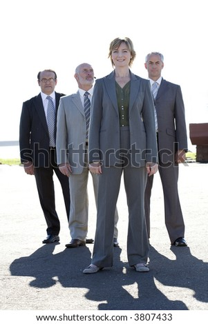 Professional confident business team - stock photo