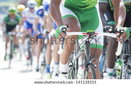 professional cycling race - stock photo