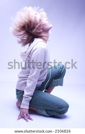 professional dancer - stock photo