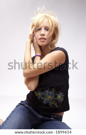 professional dancer on the move - stock photo