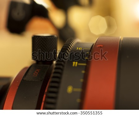 Professional digital video camera. accessories for 4k video cameras  - stock photo