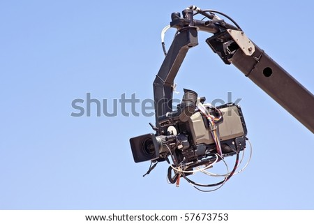 Professional digital video camera equipment - stock photo