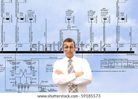 professional engineer designer admiring size generate electric fundamental scheme