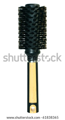 Professional hairdresser round hairbrush isolated on a white background - stock photo