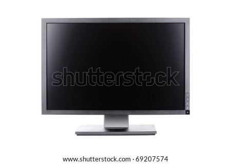 professional ips panel lcd monitor, isolated on white